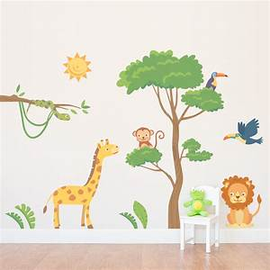 safari wall decals roselawnlutheran With jungle wall decals