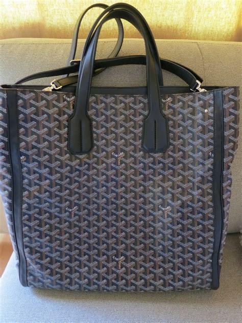 goyard voltaire tote  shoulder strap goyard tote canvas leather bag bags designer