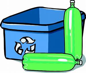 Recycling Bin And Bottles Clip Art at Clker.com - vector ...