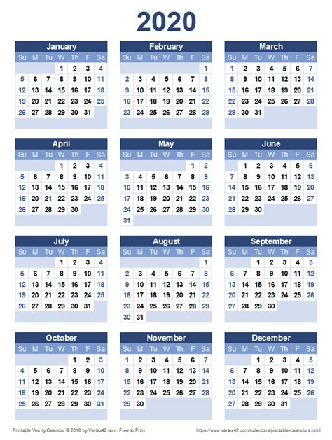 printable  yearly calendar calendar printables