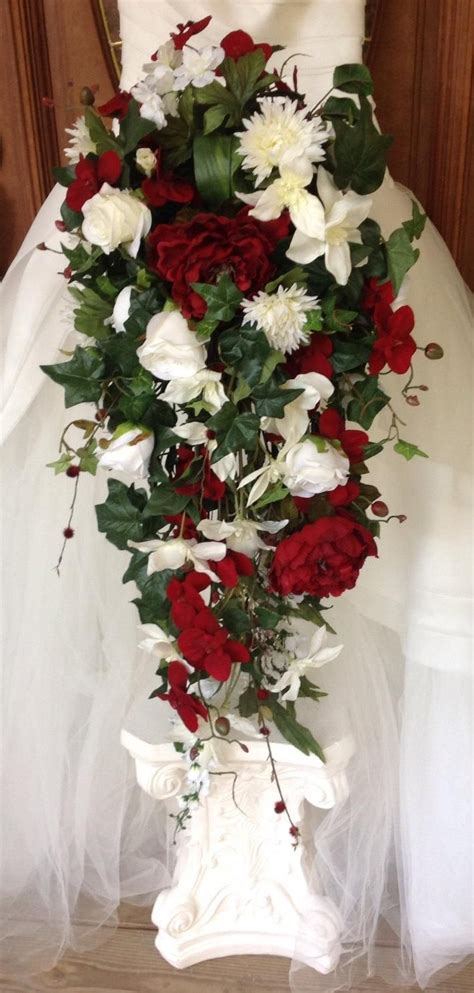 Bridal Bouquet Cascade Bouquet Winter Bouquet Large