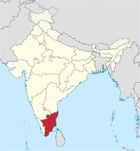 File:Tamil Nadu in India (disputed hatched).svg ...