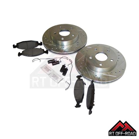 complete drilled slotted brake kit front rt