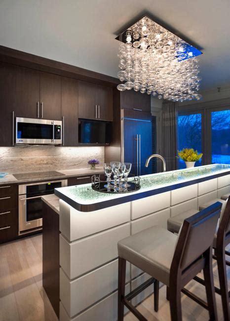modern kitchen islands  high countertops  bar chairs