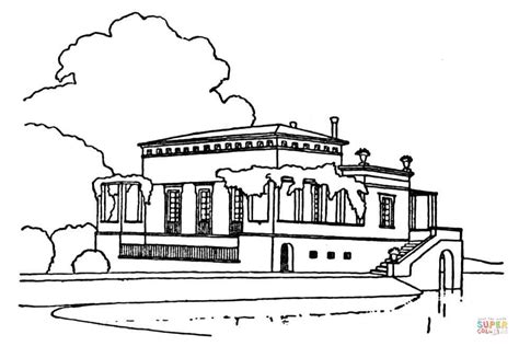 Coloring Ville villa style home coloring pages print coloring