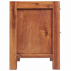 Armoire Bois Massif : la boutique en ligne vidaxl armoire de chevet bois d 39 acacia massif marron 45 x 42 x 58 cm ~ Teatrodelosmanantiales.com Idées de Décoration