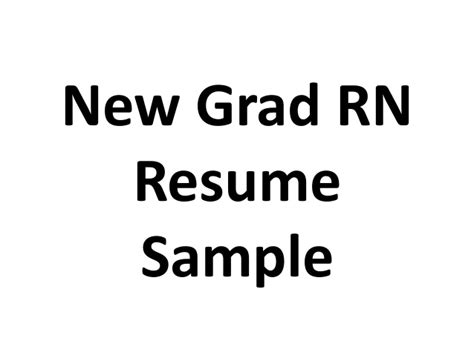 New Grad Rn Resume Exles by New Grad Rn Resume Sle
