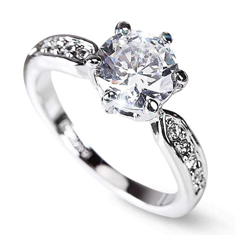 clearance sale lozenge engagement rings silver plated ring wedding rings anel