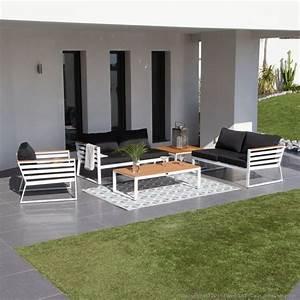 salon de jardin extrieur modulable 2 canaps 1 fauteuil 1 With tapis exterieur avec canapé miami