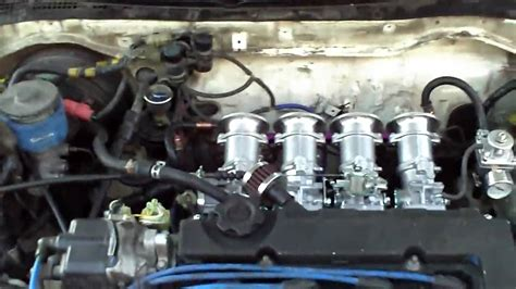 honda crx b18 with obx itbs individual throttle bodies start