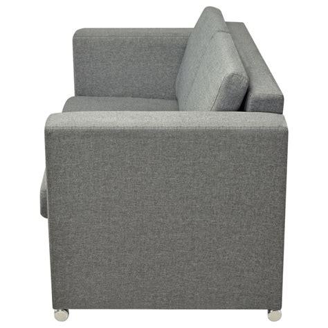 fournitures de bureau pas cher acheter vidaxl canapé à 2 places tissu gris clair pas cher