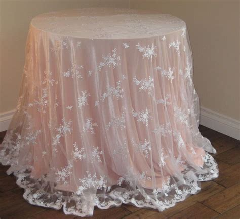 round white table cloth white lace table overlay tablecloth 90 quot round for a