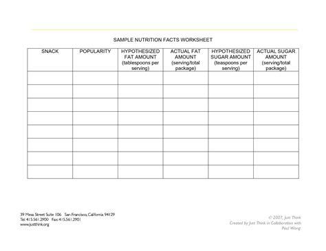 16 Best Images Of Nutrition Label Worksheet