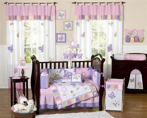 purple crib bedding pink purple butterfly baby bedding set 9pc