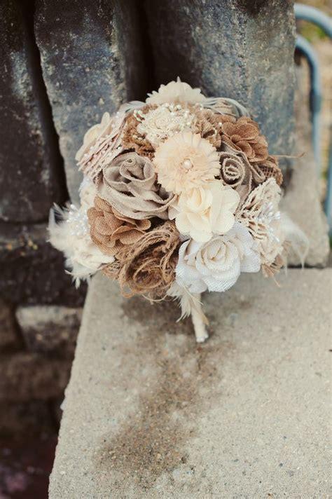 burlap wedding bouquets  pinterest burlap bouquet