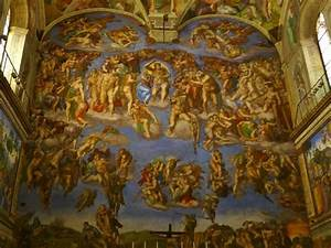 The most famous of the ceiling paintings, Creation of Adam ...