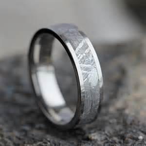 meteorite mens wedding ring mens meteorite wedding band mens wedding ring womans wedding