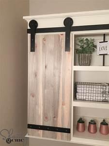 DIY Sliding Barn Door Bathroom Cabinet - Shanty 2 Chic