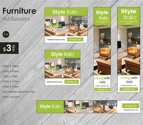 modern furniture ad banners psd ai eps vector
