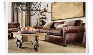 meubles et mobilier exceptionnels luxe et matieres With canape cuir marron style industriel