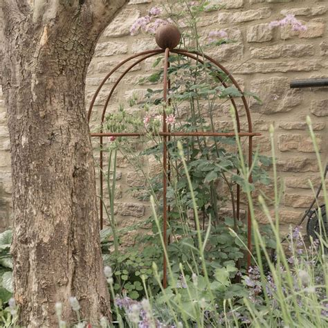 plant support pot lobster rust supports arc garden harrodhorticultural