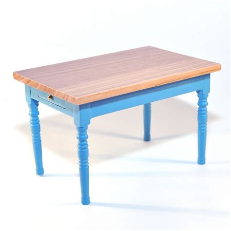 blue table l e7110 blue kitchen table with pine top l minimum world