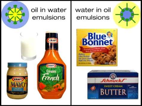 emulsion cuisine nature and use of emulsifiers in foods