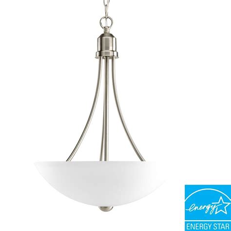 progress lighting collection 3 light brushed nickel