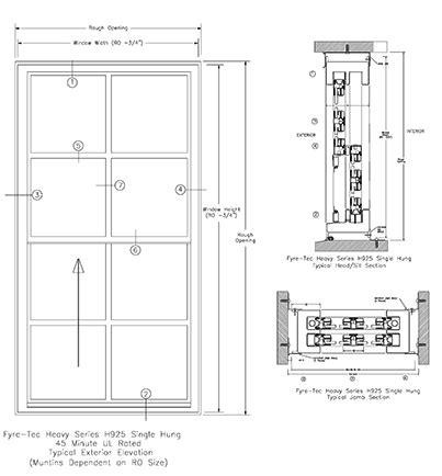 Single Hung H925 Series   Steel Windows & Doors
