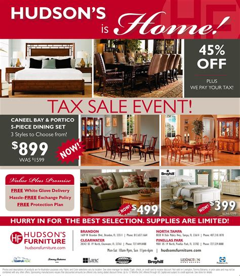 Furniture Sale by Tax Sale Event 45 We Pay Your Tax