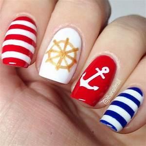 50 Cool Anchor Nail Art Designs