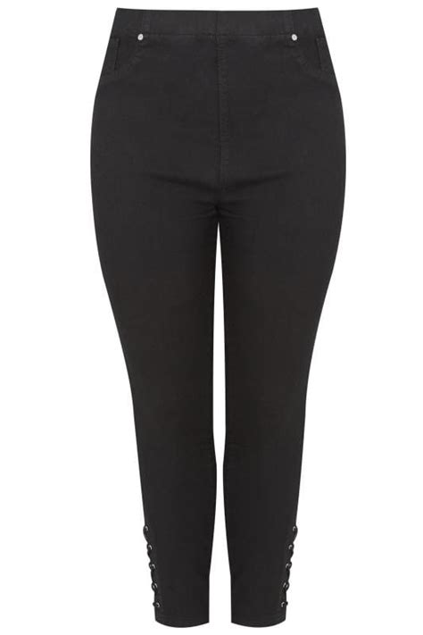 date post jenny template responsive black pull on jenny jeggings with eyelet detail plus size