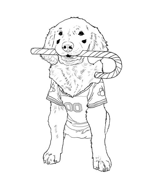 christmas puppy coloring pages coloring home
