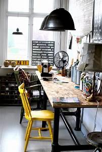 Etabli D Atelier Pas Cher : 42 id es d co de bureau pour votre loft ~ Melissatoandfro.com Idées de Décoration