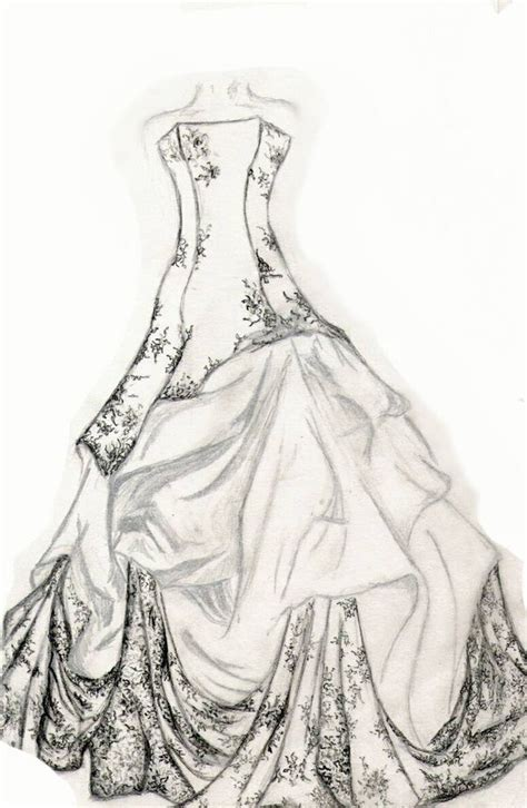 fashion design sketches  dresses black  white