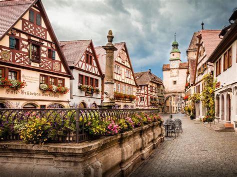 wonderful  town  germany rothenburg ob der tauber
