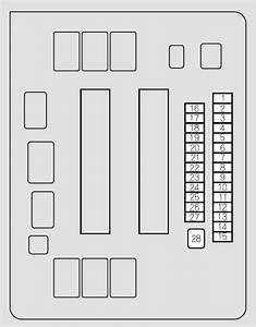 Honda Odyssey  2012 - 2013  - Fuse Box Diagram