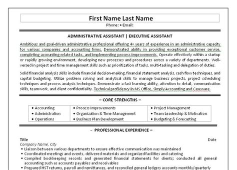 Executive Receptionist Resume by 10 Best Best Administrative Assistant Resume Templates Sles Images On Resume