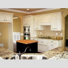 Painted, Distressed Kitchen Cabinets  Traditional