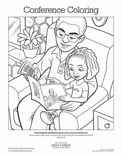 Lds Conference Coloring General Activities Pages Primary