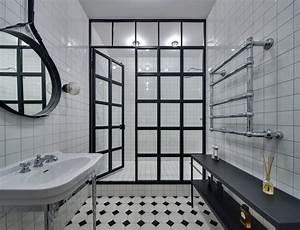 salle de bain noire 53 idees deco originales a couper le With porte d entrée pvc avec lavabo salle de bain suspendu