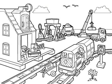 90 Dessins De Coloriage Train Lego City à Imprimer