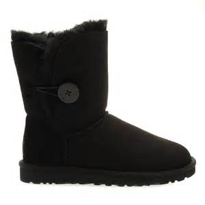 womens ugg boots littlewoods buy womens ugg australia bailey button boots in black at hurleys