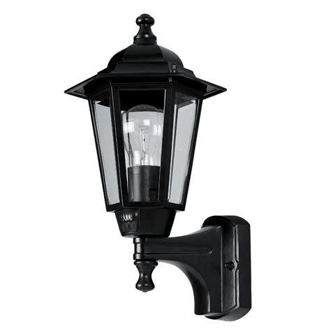 new 60w black 6 panel coach lantern outdoor wall light pir ebay