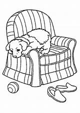 Coloring Sofa Pages Puppy Chair Pup Printable Print Slipcover Getdrawings Getcolorings sketch template