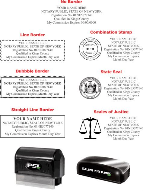 New York Notary Stamp Pre-Ink