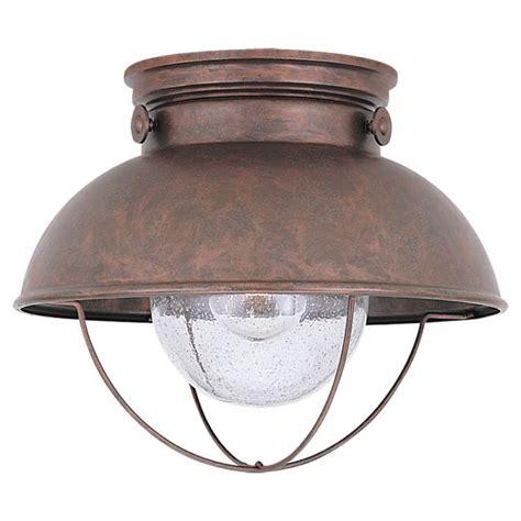 sea gull lighting 8869 44 weathered copper sebring 1 light
