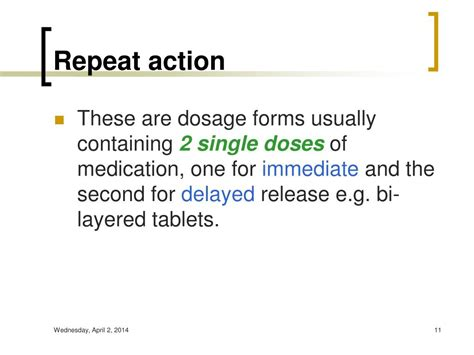 repeat action dosage form ppt modified release dosage form powerpoint presentation