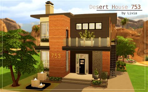 kitchen furniture island contemporary desert house sims 4 houses