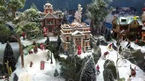 how to build a christmas village display with lemax houses youtube